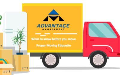 Proper Moving Etiquette
